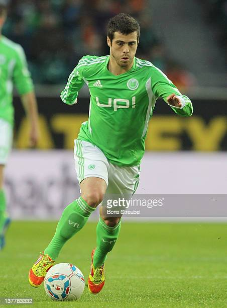 Vieirinha of Wolfsburg runs with the ball during the Bundesliga match between VfL Wolfsburg and 1 FC Koeln at Volkswagen Arena on January 21 2012 in...