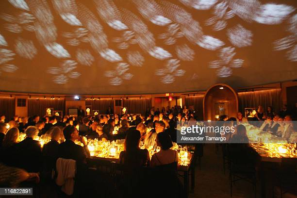 Vieiw of the guests watching David Lynch's film 'Diamonds Gold and Dreams' at a private dinner in honor of Anri Sala at the Cartier Dome Miami Beach...