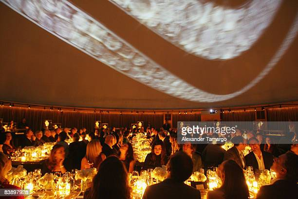 Vieiw of the guests watching David Lynch's film Diamonds Gold and Dreams' at a private dinner in honor of Anri Sala at the Cartier Dome Miami Beach...