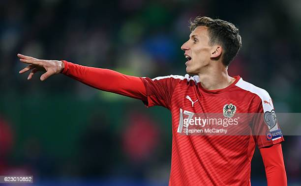Vienna Austria 12 November 2016 Florian Klein of Austria during the FIFA World Cup Group D Qualifier match between Austria and Republic of Ireland at...