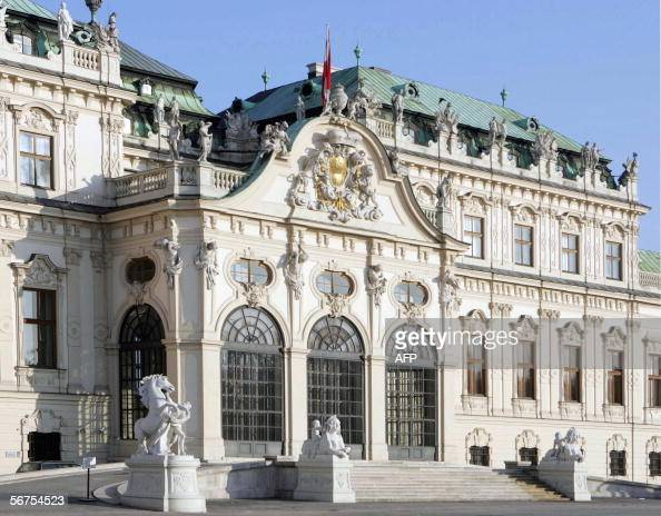 A picture taken 06 February 2006 shows the Belvedere palace in Vienna An Austrian arbitration court ruled 17 January 2006 that five paintings by...