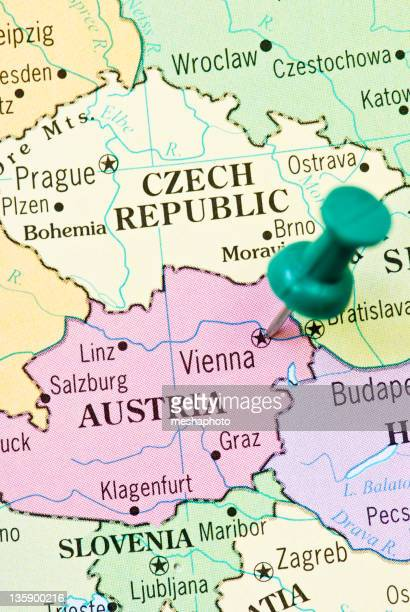 Austria Map Stock Photos And Pictures Getty Images - Klagenfurt austria map