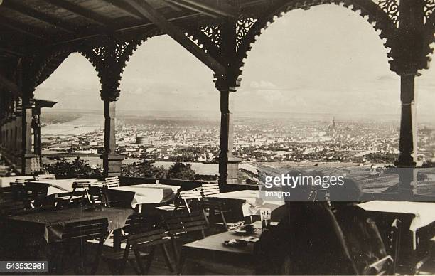 Vienna Doebling View from the restaurant on the top of Kahlenberg onto the city of Vienna Austria Ca 1930