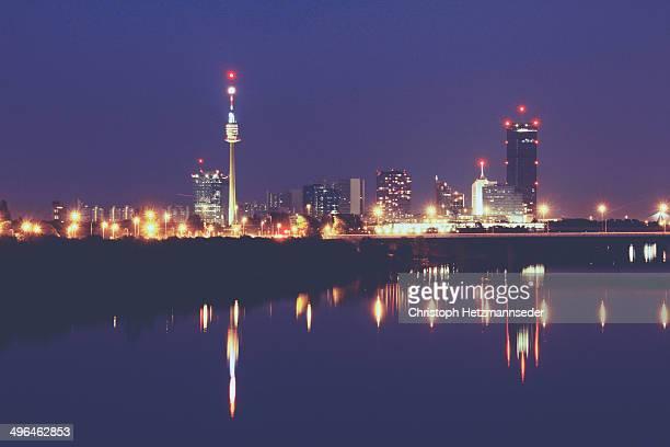 Vienna night reflections