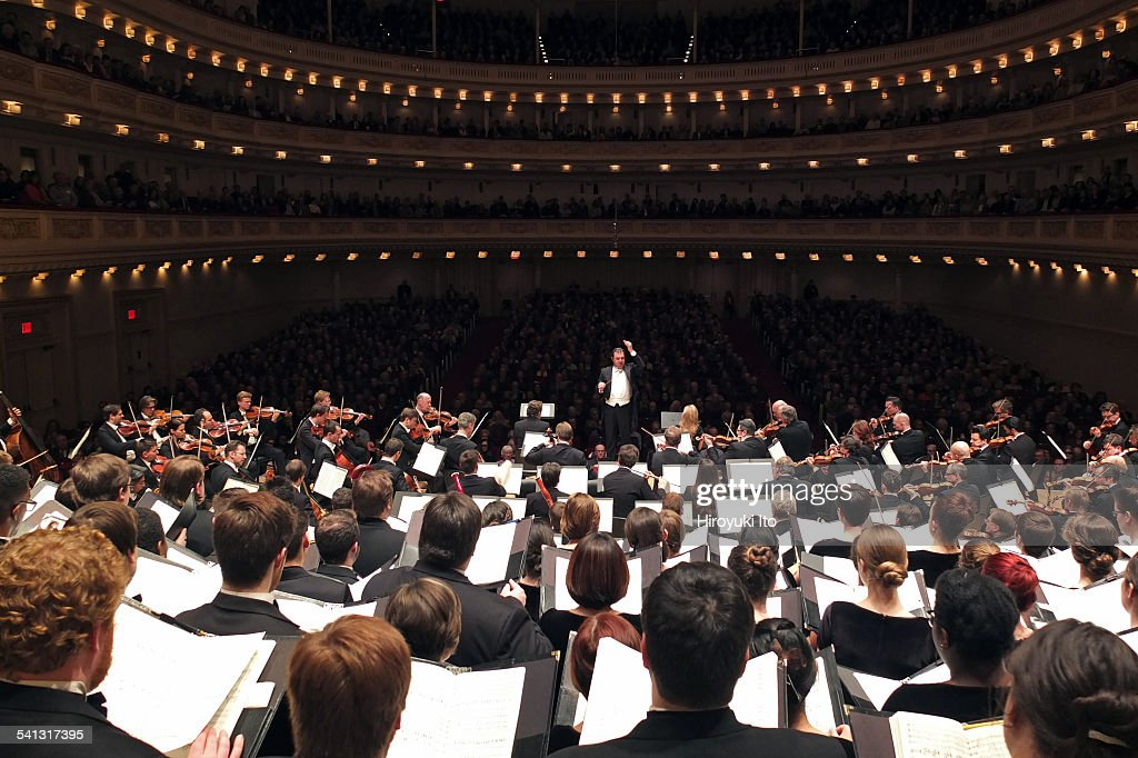 Vienna Philharmonic Orchestra with Westminster Symphonic Choir performing Brahms's 'A German Requiem' at Carnegie Hall on Sunday afternoon March 1...