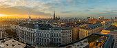 Vienna skyline panorama at sunset