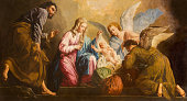 Vienna - The Nativity paint in presbytery of Salesianerkirche church by Giovanni Antonio Pellegrini (1725-1727).