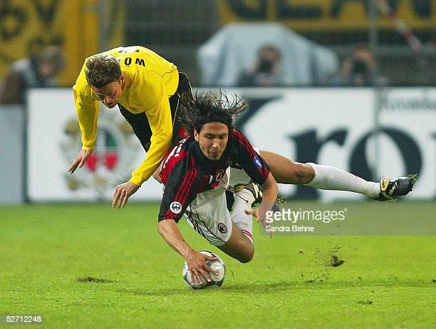 POKAL 01/02 Viertelfinale Dortmund BORUSSIA DORTMUND AC MAILAND Christian WOERNS/DORTMUND JOSE MARI/MAILAND