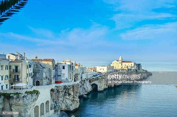 Vieste cityscape before sunset in Apulia, Italy