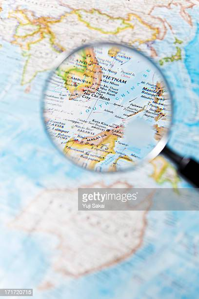 Vietnam and  Magnifying glass