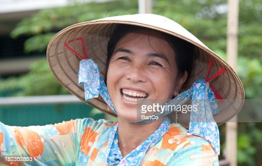 Vietnam, floating market, near Can Tho.