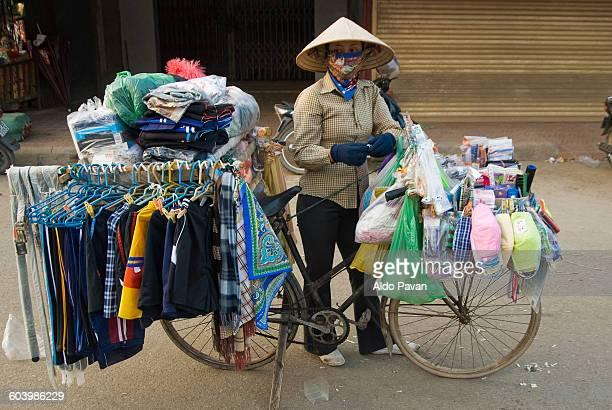 Vietnam, Ha Tien, peddler by bicycle