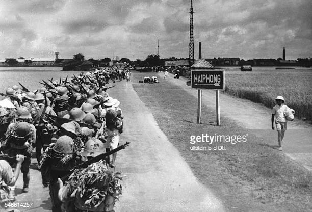 Vietnam Hai Phong Hai Phong Japanese soldiers marching into Indochina infantrymen on their way to Haiphong September 1940 Photographer Weltbild...