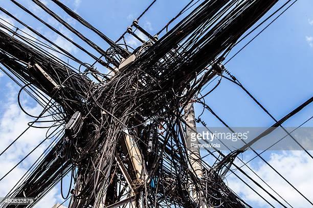 Vietnam, Hanoi, Communication wires