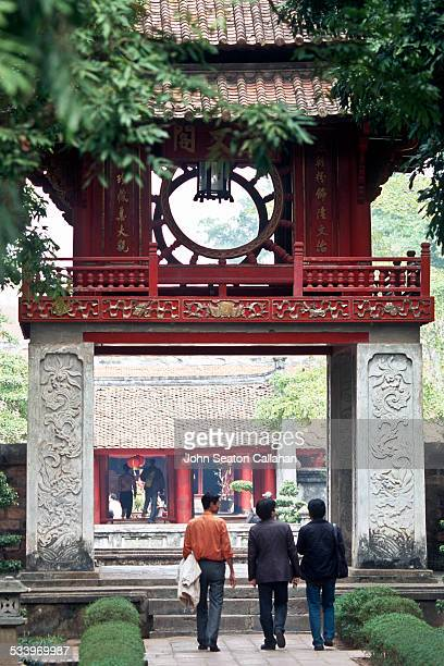 Vietnam Hanoi entrance gate to the Temple of Literature