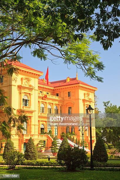 Vietnam, Hanoi, Presidential Palace, Facade of a government building