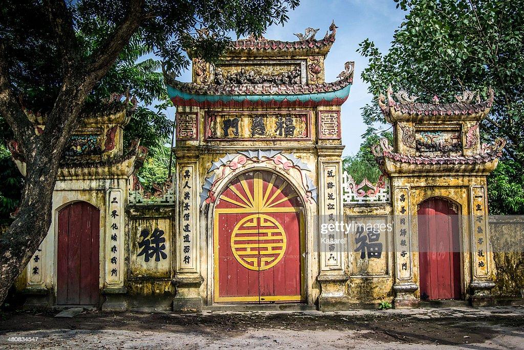 Vietnam, Hanoi, Temple gates
