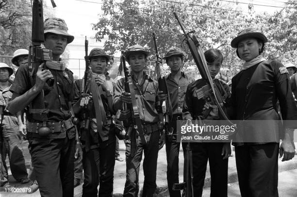 Vietnam Liberation of Ho Chi Minh in Vietnam in May 1975Members of the Liberation Army ** NB 76032 **