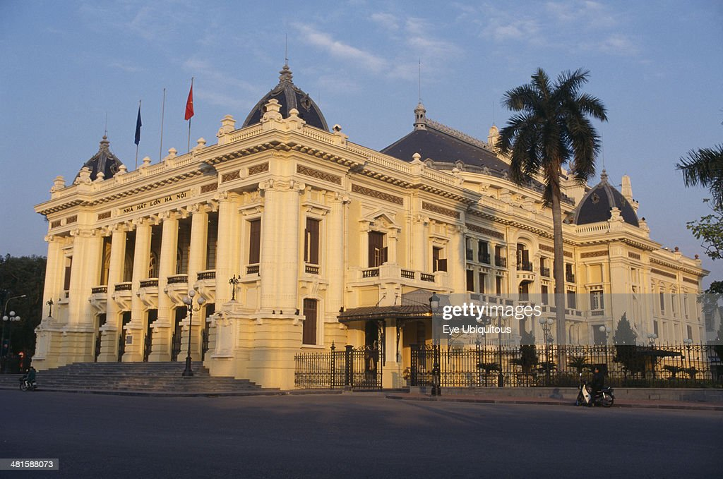 Vietnam North Hanoi The Opera house built in the French colonial style