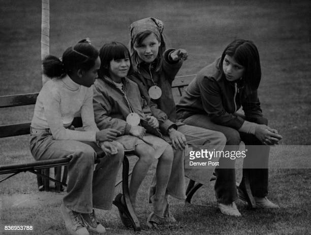 Vietnam War Orphans Denver Schoolgirls Acquaint Vietnamese Orphan with Sights at City Park Nguyen Thi Kin Lein second from left visits with Nicole...