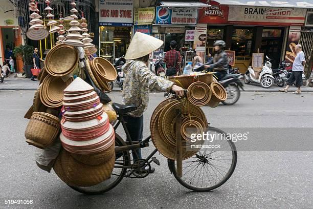 Vietnamese bike street trader