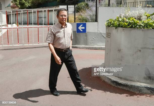Vietnamese dissident blogger with dual French citizenship Pham Minh Hoang arrives for a community meeting on June 25 2017 in an hotel of the Paris...