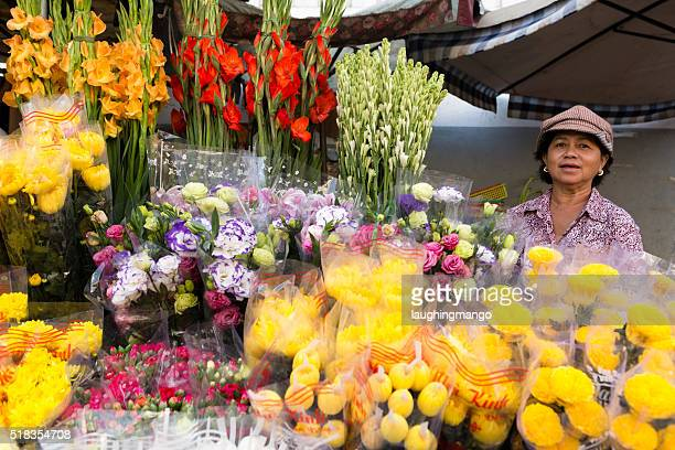 Vietnamese Flower Market Vendor