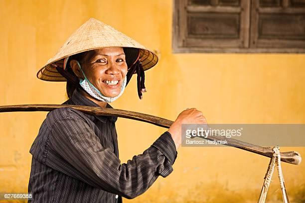 Vietnamien Vendeur de fruits