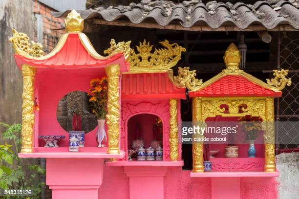 Vietnamese houses of spirit, in Hué City (vietnam)