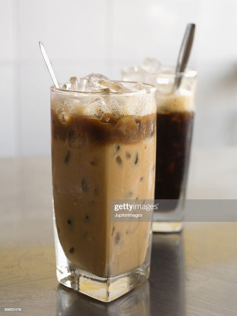 Vietnamese iced coffee with milk