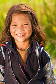 Vietnamese minority people - girl from Black Hmong Hill Tribe