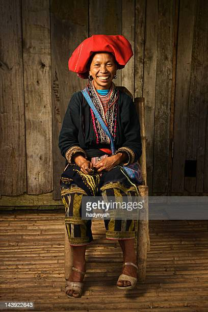 Vietnamese minority people - woman from Red Dao hill tribe