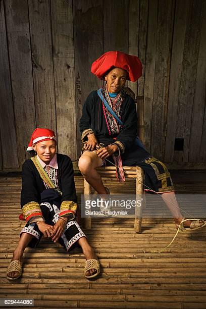 Vietnamienne minorité personnes-femme de la colline Tribu Dao rouge