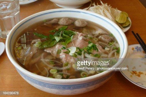 Vietnamese Noodle Soup : Stock Photo