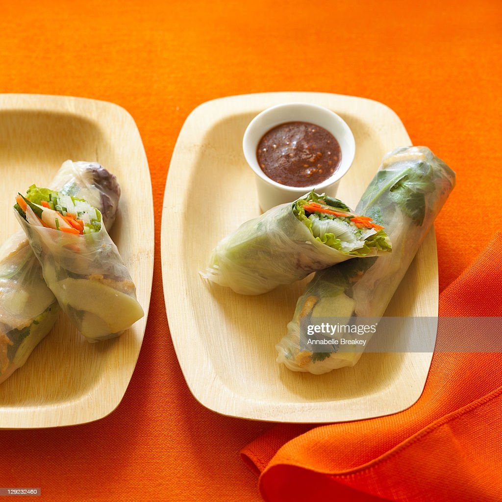 Vietnamese Noodle Spring Rolls : Stock Photo
