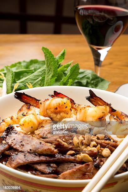 Vietnamese Pork and Shrimp Noodle Bowl