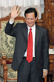 Vietnamese Prime Minister Nguyen Tan Dung addresses at the upper house of the diet on October 19 2006 in Tokyo Japan