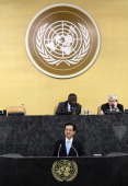 Vietnamese Prime Minister Nguyen Tan Dung addresses the 68th United Nations General Assembly at UN headquarters on September 27 2013 in New York City...