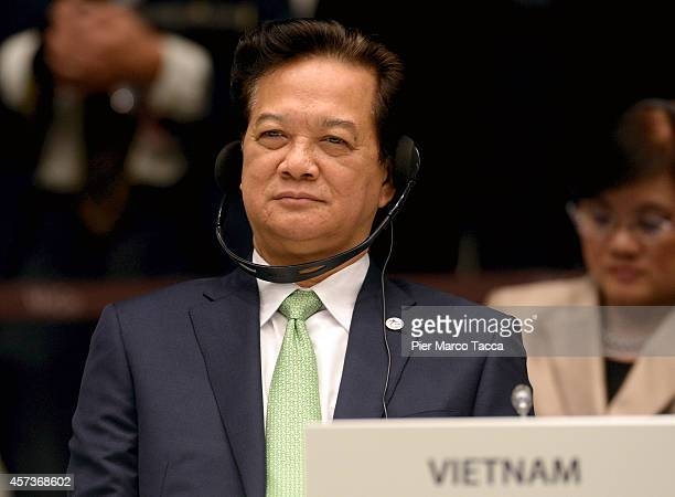 Vietnamese Prime Minister Nguyen Tan Dung during the10 ASEM Summit with 50 Heads Of State From Europe And Asia on October 17 2014 in Milan ItalyThe...