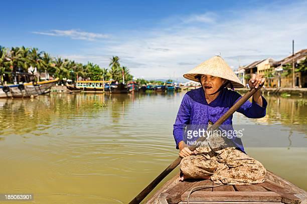 Vietnamienne bateau-taxi à Hoi An