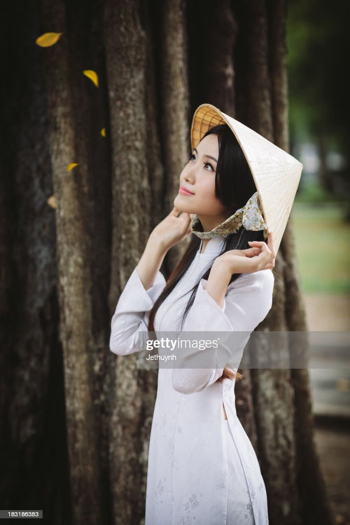 Vietnamese White Ao Dai at Saigon