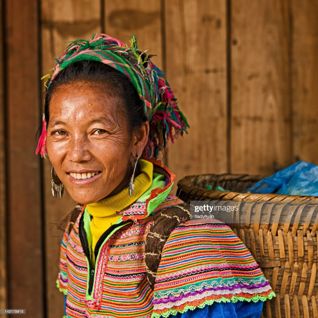 Vietnamese woman from Flower Hmong Tribe : Stock Photo