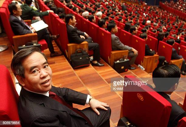 Vietnam's Central Bank Governor Nguyen Van Binh is seen while attending the opening ceremony of the 12th National Congress of Vietnam's Communist...