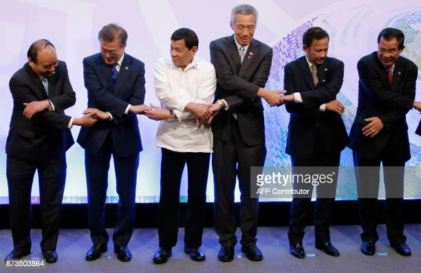 Vietnam's Prime Minister Nguyen Xuan Phuc South Korea President Moon Jaein Philippines' President Rodrigo Duterte Singapore's Prime Minister Lee...
