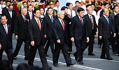 Vietnam's top leaders including Communist Party Chief Nguyen Phu Trong President Truong Tan Sang Prime Minister Nguyen Tan Dung and National...