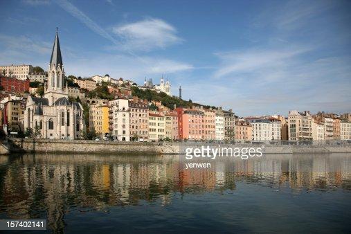 Vieux Lyon and Saone River