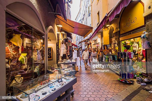 Vieux Nice, Old Nice, shops in an alley
