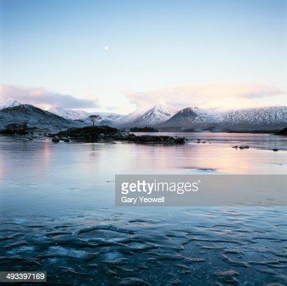 View across a frozen landscape