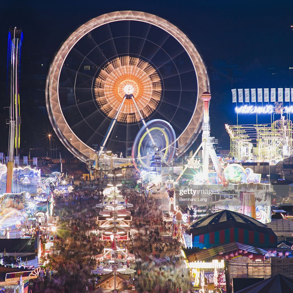 View across Oktoberfest Muenchen : Stock Photo