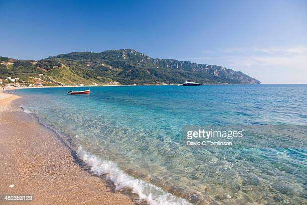View across the bay, Agios Georgios, Corfu, Greece